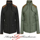 NEW LADIES WOMENS GIRLS JACKET QUILTED PADDED PARKA WINTER COAT TOP PLUS SIZE