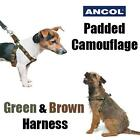 Ancol Padded Dog Harness Green & Brown Camouflage Nylon Army Camo