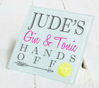 Personalised Gin Tonic Vodka Drinks Glass Gift Coaster Mat Present Christmas