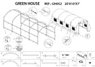 20'X10'X7' GH052 Greenhouse Replacement Parts