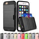 Shockproof Wallet Credit Card Holder Hybrid Hard Case Cover For iPhone SE 5s 5