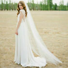 New White/Ivory 1T 2M Wedding Bridal Long Veil Cathedral With Comb
