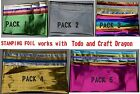 Todo mixed foils 6x1m Craft Dragon Cards Heat Transfer 12cm x 1m Foil Machine