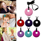no bpa - Silicone No BPA Mom Pendant Necklace Teething Nursing Baby Teether Chewable Ring