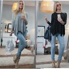 Fashion Women Casual Long Sleeve Lady Shirt Vest Tank Loose T-Shirt Tops Blouse
