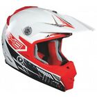 Lazer MX8 Carbon Tech MX Off Road Helmet White/Red