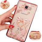 Luxury Bling Bow Metal Ring Holder Soft Bumper Gel Clear Case Cover For Samsung