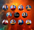 Star Trek Voyager style 38mm Badges & Fridge Magnet set Cult TV VOY Sci-Fi 50th