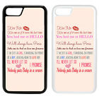 Life Sayings Quotes Printed PC Case Cover - Love Movie Quotations - S-A1196