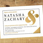 Personalised Engagement Party Invitation / Invites BE010 Modern A6 Glossy Card