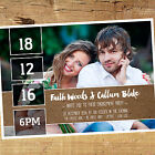 Personalised Photo Engagement Party Invitation / Invites BE008 A6 Glossy Card