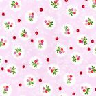 PINK / GREEN ~ 100% COTTON PATCHWORK CRAFT FABRIC BY THE METRE FQ