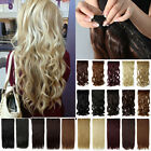 UK SELLER full head 1pc hair extensions clip in real synthetic wavy straight