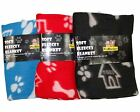 New Pet Cat Dog Winter Cosy Warm Fleece Blanket Printed Comfortable Quilt Cover