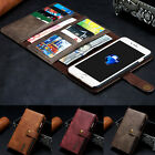 Genuine Leather Removable Wallet Flip Card Case Cover for iPhone 7 7 Plus 6 6s