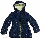 Ex Chain Girls Kids Winter Coat Jacket Hooded School Coat Warm Fleece Sz  2-7y