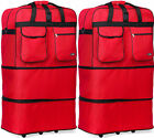 "Pack of 2, 30""/36""/40""Expandable Rolling Wheeled Duffel Spinner Suitcase Luggage"