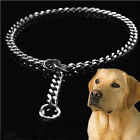 Stainless Steel Snake P Chock Chain Dog Show Training Collars Metal Pet Necklace