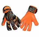 Football Goalkeeper Gloves  Prime PR04 Orange Flat Finger Save Goalie Gloves