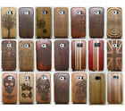 Genuine Handmade Wood Bamboo Case Back Cover for Samsung Galaxy S7 S6 S5 Note 7