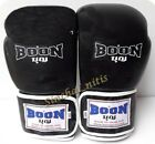 BOON BOXING GLOVES VELCRO BGV BLACK MUAY THAI SPARRING TRAINING  MMA 12,14,16 oz