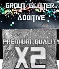 Grout glitter deal x2 silver or gold additive