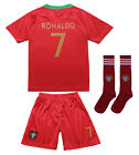 Portugal Cristiano RONALDO #7 CR7 Home Kids Soccer Jersey & Shorts Youth Sizes