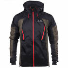 Ellesse Bormio Aria De Montagna Mens Hooded Full Zip Jacket Coat Black