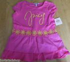 Juicy Couture cotton girl long top t-shirt tunic 5-6 y BNWT New  designer pink