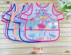 Cute Baby Todder Kids Children Short Sleeve Art Smock Bib Waterproof Apron