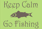 "Personalised Wall Art Quote ""Keep Calm Go Fishing"" © decal sticker cols choices"