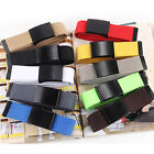 Chic Canvas Belt Waist Mens Boys Casual Waistband Stretch Buckle Elastic Woven