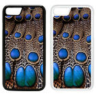 Animal Print Pattern Printed PC Case Cover - Peacock blue - S-G1102