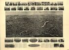 Naugatuck, Connecticut 1906, Town View, Old Map Print