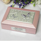 50th Birthday Pink Butterfly Jewel Box - Add a Name & Message