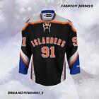#91 John Tavares New York Islanders Black Premier Player Jersey Men M-3XL