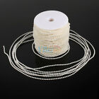 50M 2 Colors Artifical Pearl Bead String Spool Rope Wedding Bridal Bouquet Decor