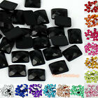 Rectangle 6x8mm Colors Acrylic Faceted Rhinestones Flat Back Scrapbooking Craft
