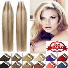 """16""""-24'' Tape in Remy Straight Human Hair Extensions 20pcs Ombre Mixed Color"""