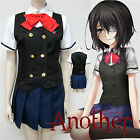 HOT ! Another Misaki Mei Short Sleeve Dress Sexy Cosplay Costume School Uniform