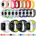 Replacement Silicone Wrist Bracelet Sport Band Strap For Apple Watch Series 1/2