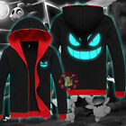 Anime Pokemon Gengar Unisex Hoodie Coat Jacket Cosplay Long Sleeve Tops#TGP85