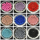 New DIY 4mm 6mm 8mm 10mm No Hole Round Pearl Loose Acrylic Beads Jewelry Making