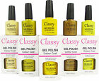 CLASSY UV LED GEL POLISH VARNISH COLOUR COAT PROFESSIONAL SALON USE GOLD YELLOW