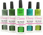 CLASSY UV LED GEL POLISH VARNISH COLOUR COAT PROFESSIONAL SALON USE GREEN RANGE