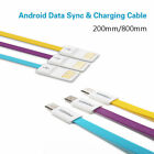 Pisen 200/800mm Android USB Charger Flat Noodle Data Sync & Charging Cable Cord