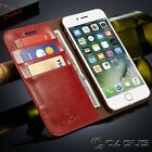 Genuine Leather SLIM Wallet Card Flip Stand Case Cover for iPhone X 8 7/6s Plus