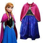 Girls Frozen Princess Queen Anna Fancy Dress Party Cosplay Costume Outfit Gifts