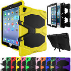 Hybrid Rugged Shockproof Rubber Hard Armor Kickstand Case Cover For iPad 2 3 4
