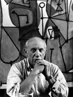 Pablo Picasso Artist Painter Portrait Stained Glass Giant Wall Print POSTER
